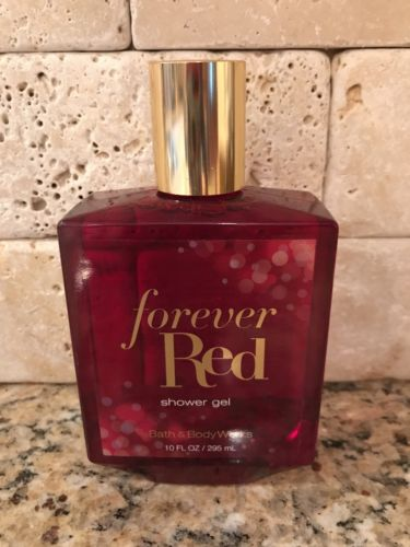 BATH AND BODY WORKS FOREVER RED Body Shower Gel 10 oz / 295 ml  NEW