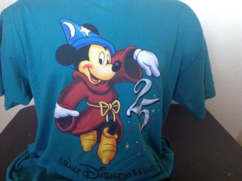 Vintage Walt Disney World T Shirt 25th Anniversary Mickey Mouse WDW