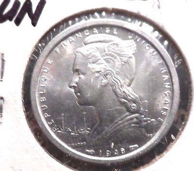 BU IN GRADE 1948 2 FRANC FRENCH CAMEROUN TERRITORIES COIN (121115)