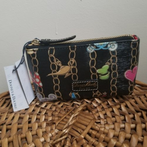 Disney Dooney & Bourke Black Charms Cosmetic Case Bag