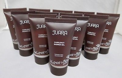 JUARA Candlenut Shower Gel Paraben & Sulfate Free 12 Pc Travel NEW SEALED