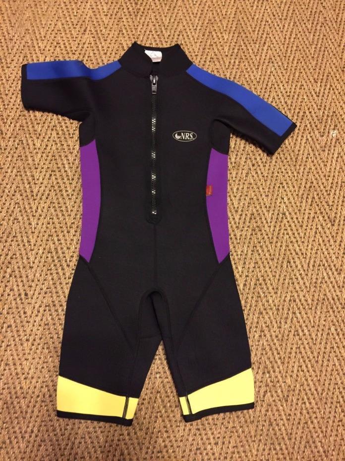 Spring Suit Surfing Wet Suit Black Purple Blue NRS M Medium Youth 10 - 12