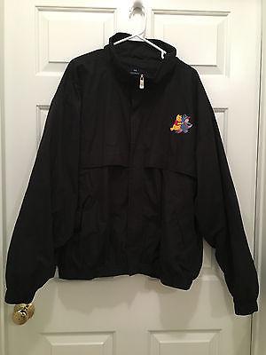 Walt Disney Winnie The Pooh Eeyore Logo Full Zip Black Jacket Size XXL 2XL