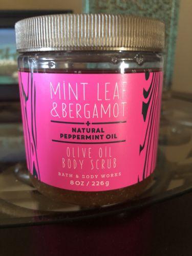 Bath and Body Works Mint Leaf and Bergamot Body Scrub 8oz. New Sealed