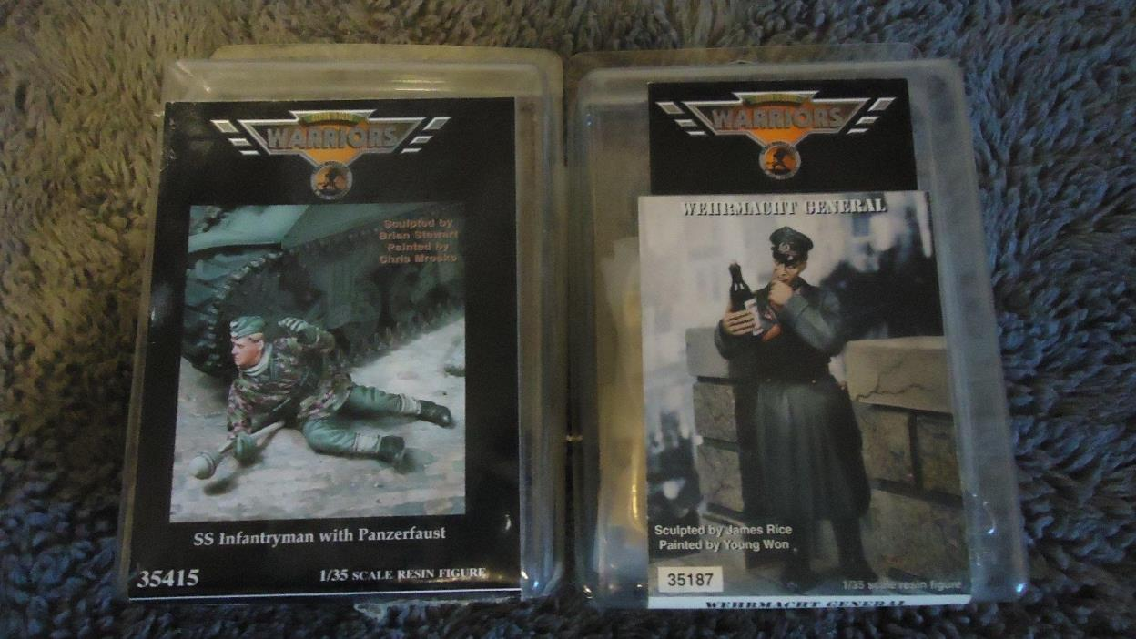 1/35 Warriors WWII German Lot: Wehrmacht General & SS Infantryman w/ Panzerfaust
