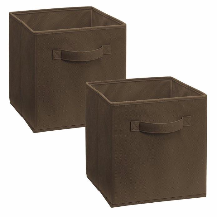ClosetMaid Cubeicals Fabric Drawers 8297, Canteen Brown, 2 Pack, 10.5