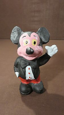 Vintage Cast Iron Left Hand Up Mickey Mouse Bank