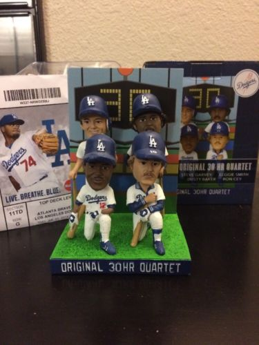 Baker Cey Garvey Smith Dodgers Bobblehead New in Box SGA with Ticket
