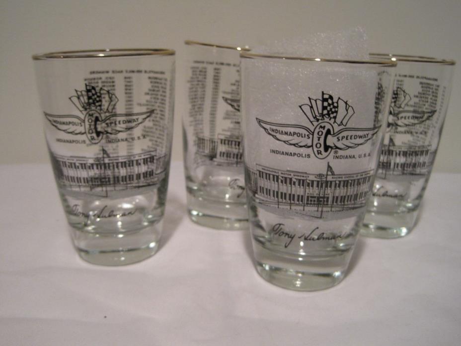 Indianapolis Indy 500 Mile Race Original Set 1976 Drinking Glasses, Unused, Box