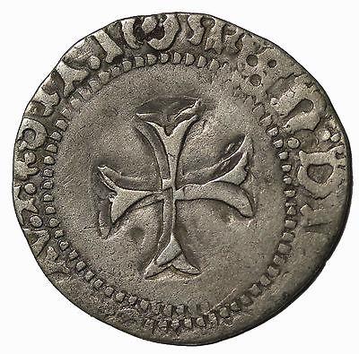 France Francois I/II Silver Blanc A La Targe Rennes Mint Medieval Coin B.133