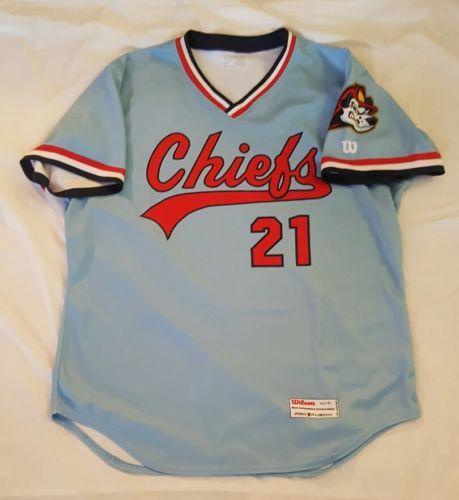 Ronnie Williams/Brennan Leitao game used Peoria Chiefs sz XL jersey Cardinals