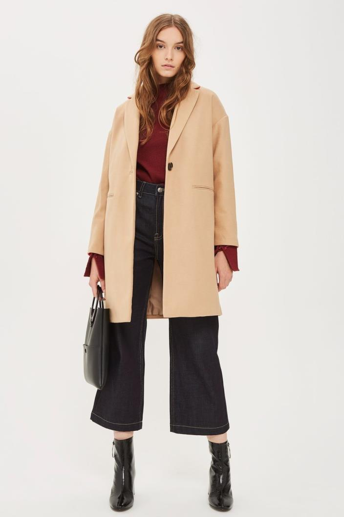 TopShop Camel Millie Relaxed Trench Coat