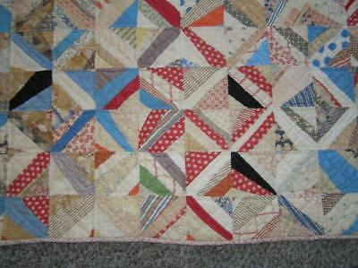 Antique Patchwork Appalachia 1930's handstitched Quilt early Calico sm squares