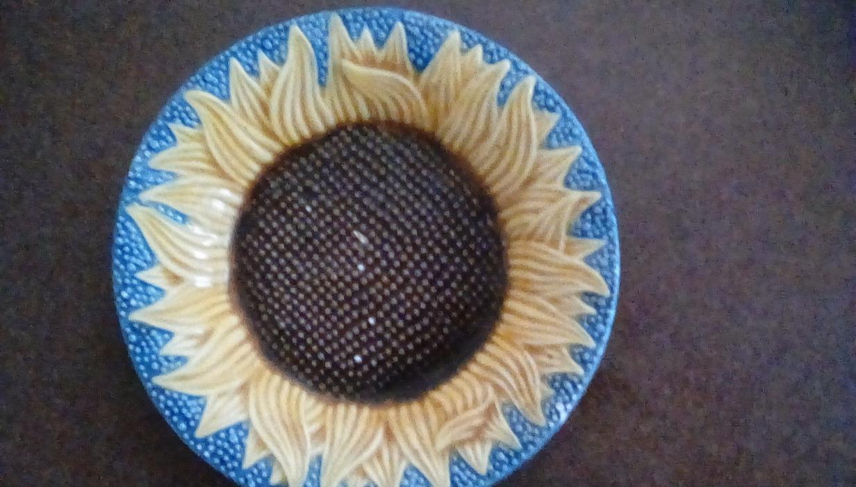 Metropolitan Museum of Art Reproduction Majolica Sunflower Plate(Portugal)