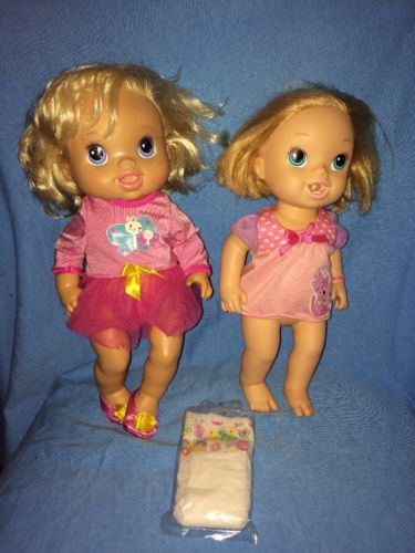 Baby Alive Doll Lot---Beautiful Now & Brushy Brushy---Butterfly & Cat---Diaper