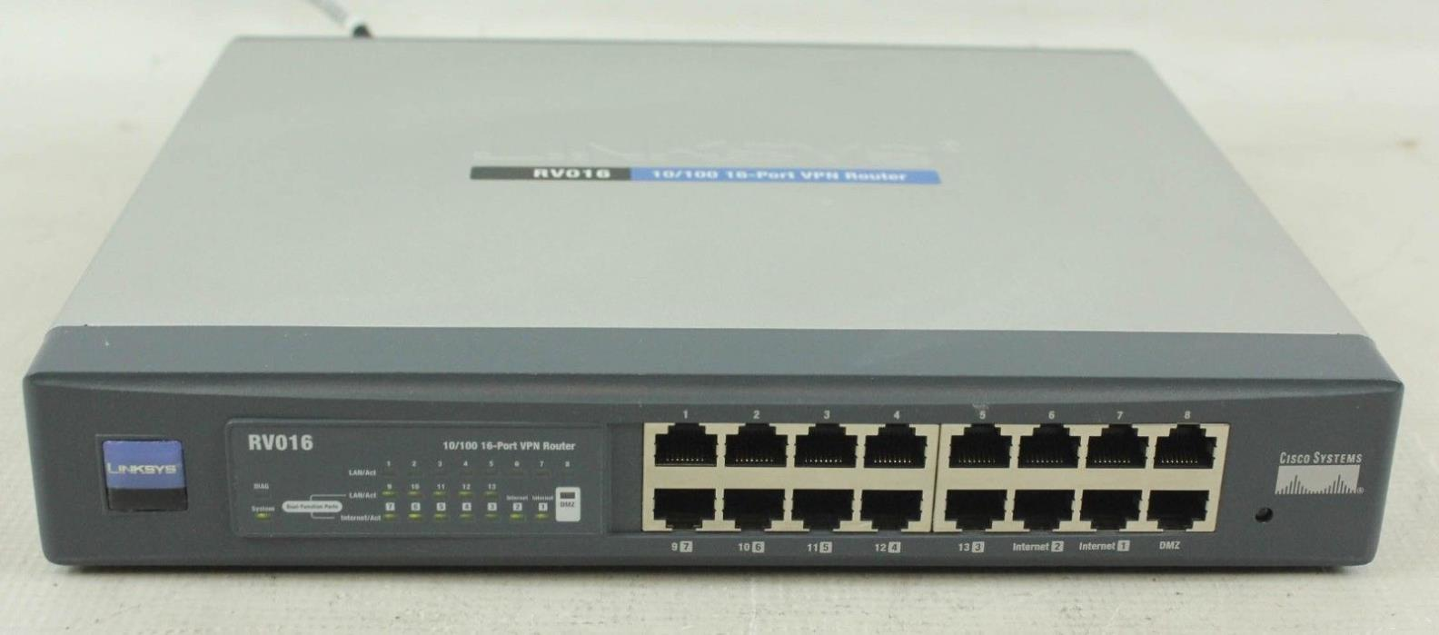 Linksys Router RV016 16-Port Business Series 10/100 Cisco Multi-WAN VPN