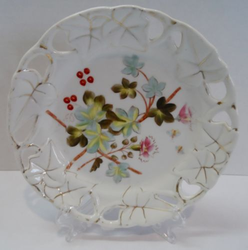 VTG Floral Reticulated Decorative Plate 7 3/4