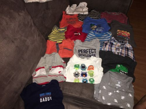 Baby Boys 12 Month Tops Lot Of 17