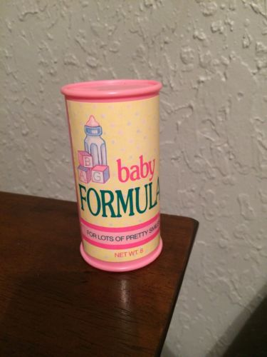 Vintage Kenner 1991 Baby All Gone Alive Doll REPLACEMENT Baby Formula Jar Milk