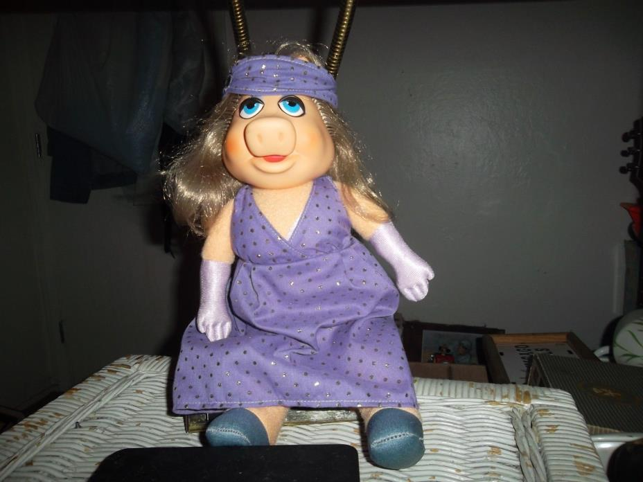 VINTAGE  MISS PIGGY DRESS-UP MUPPET DOLL ~ Fisher-Price ~ Excellent Plush