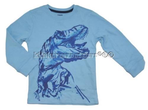 Gymboree Mix n Match 3T Blue Dinosaur Shirt Dino Fall Winter