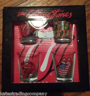 The Rolling Stones Shot Glasses Novelty Rock & Roll Barware