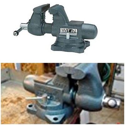 High Quality Cast Iron 6.5 Inch Jaw Width by Opening Tradesman Bench Vise USA