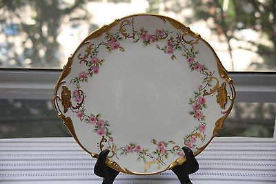 limoges Hanging Charger Platter Plate C5276 Roses with Gold trim