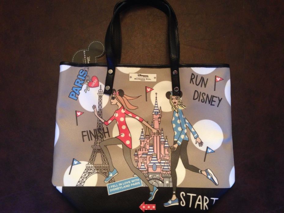 RunDisney Run Disney 2017 Disneyland Paris Barbara Rihl Shopper Tote Dooney