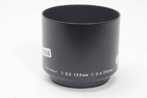 Pentax 49mm Metal Lens Shade for Takumar 135mm f2.5, 200mm f4               #936