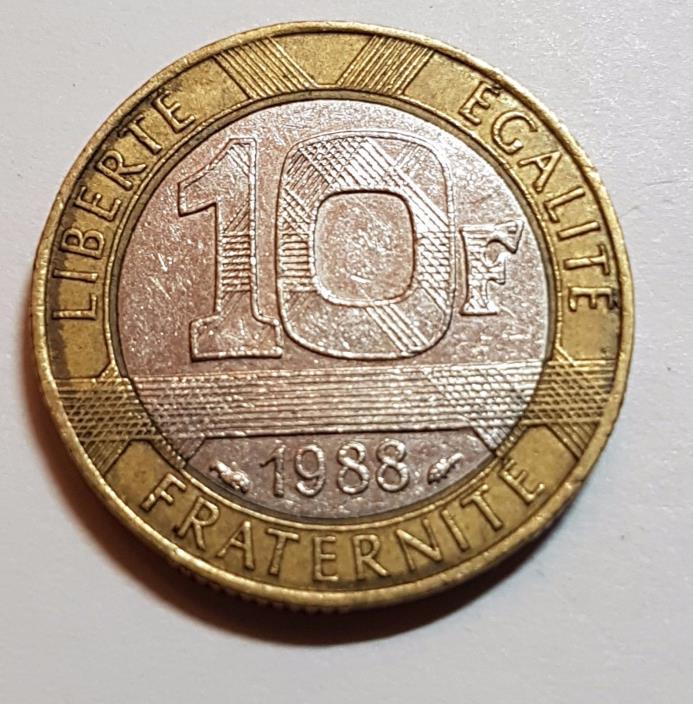 1988 10 Franc France Coin
