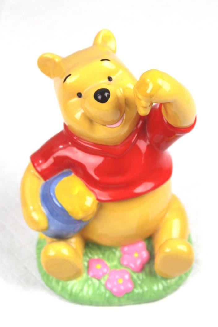 Disney Enesco Winnie The Pooh With Hunny Ceramic Piggy Bank