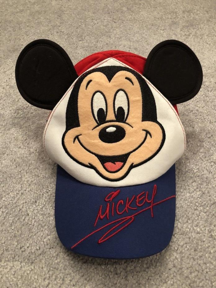Disney Parks Souvenir Hat w/ Mickey Mouse Ears Baseball Style Infants Size