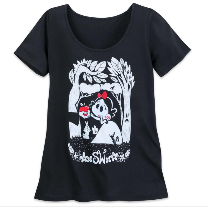 Disney Limited Release Art of Snow White Forest T-shirt Woman's Size L Large