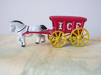 Antique,  Cast Iron Horse Drawn Ice Wagon, Vintage