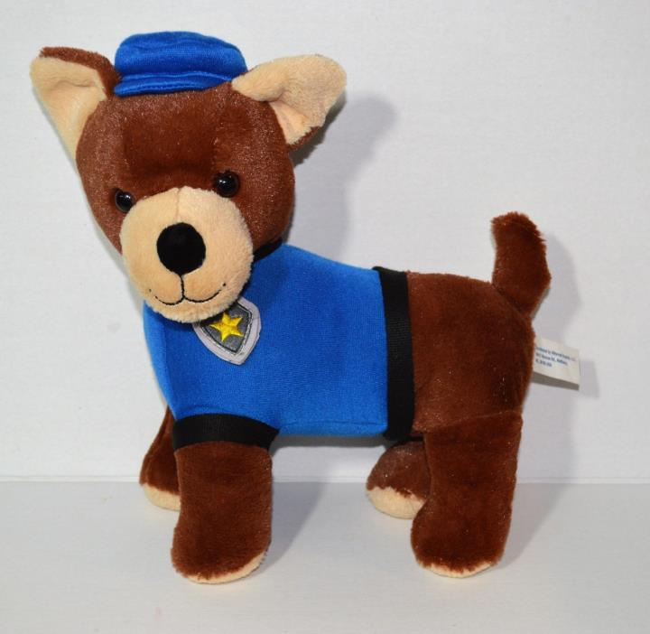 STUFFED ANIMAL PLUSH DOLL POLICE DOG STUFFEG DOG TOY