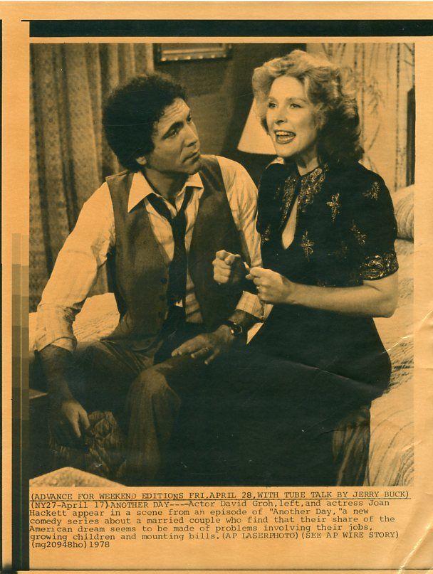 JOAN HACKETT DAVID GROH ANOTHER DAY RARE ORIGINAL 1978 CBS TV PRESS MATERIAL