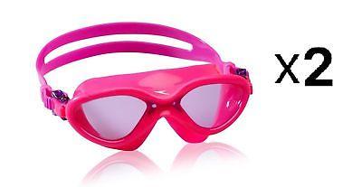 Speedo Kids Hydrospex Classic Swim Mask - Kids Swim Mask - Pink (2-Pack)