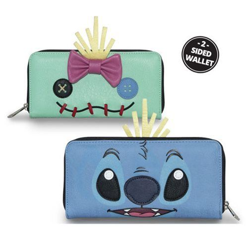New Loungefly Lilo & Stitch Two-Face Stitch and Scrump Wallet