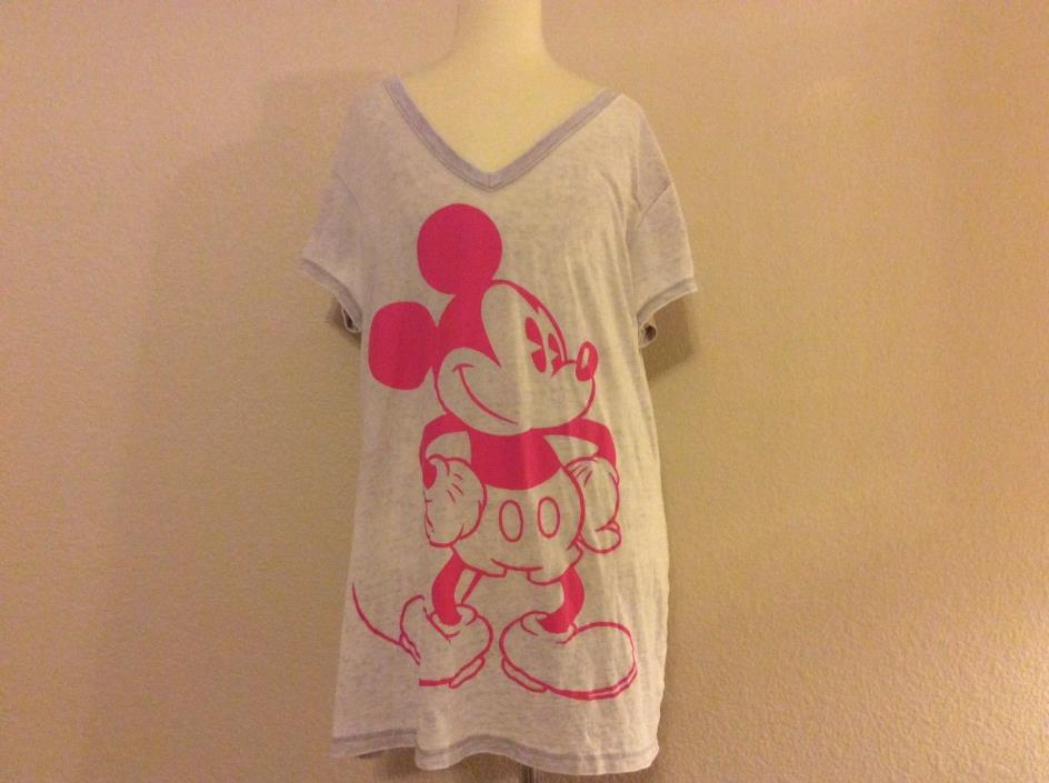 Disney's Mickey Mouse - Gray & Pink T-shirt Shirt Tee Top ((size XXL))
