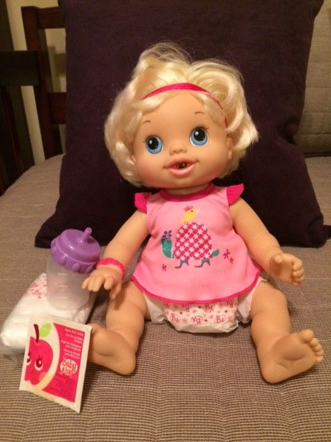 2010 Baby Alive Wets And Wiggles Doll - Blonde, Never Played With