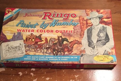 Johnny Ringo. Paint By Number. Water Color Outfit. Original Box Only U.S.A.