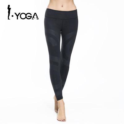 Fitness Women's Sports Leggings Running Yoga Pants Slim Fit Elastic Waist Spande