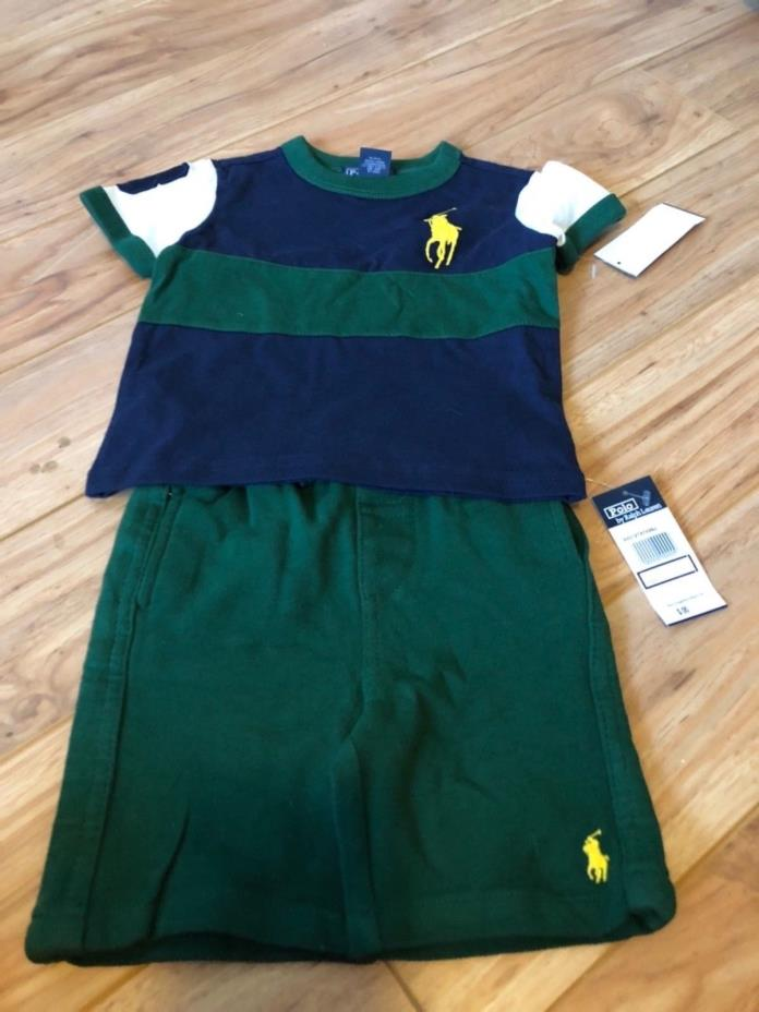 Boys Clothing lot Brand Ralph Lauren Polo New W/Tags Size 12 Months Shirt/Short