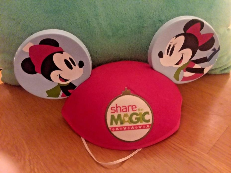 Disney Christmas Mouse Ears Share The Magic Hat - Mickey & Minnie