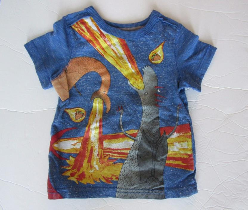 Infant Toddler Boy 18 Month Tee Shirt Dragons Love Tacos HTF Fire Breathing
