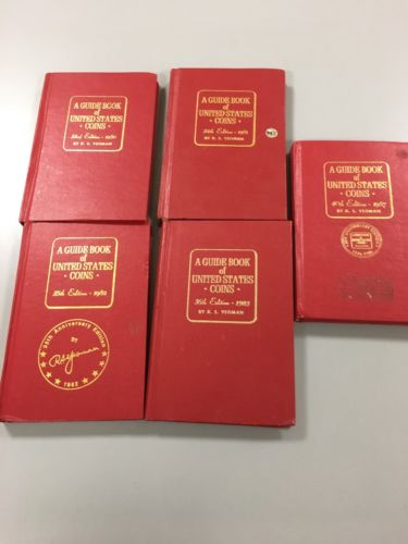 1980, 81, 82, 83 & 87 Guide Book of United States Coins by R.S. Yeoman
