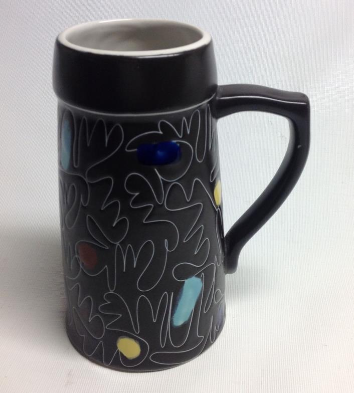 Brown Glaze Stein/Vase Signed Israel Lapid