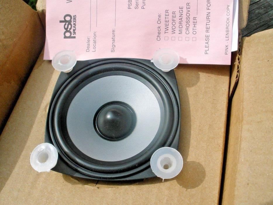 psb AL 62 speaker NOS Woofer intro 3.5  open box nice