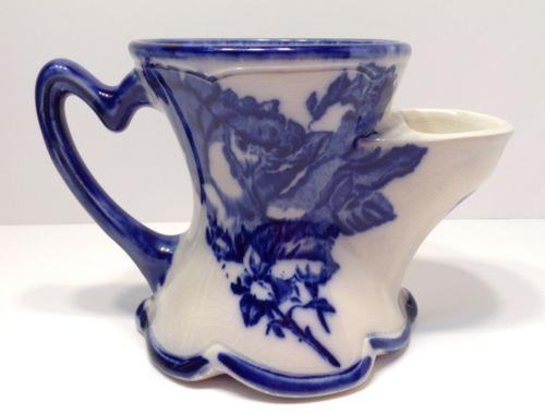 Shaving Scuttle Mug Porcelain Victoria Ironstone Staffordshire England